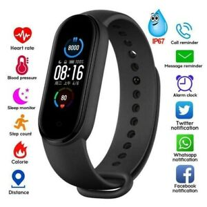 Portable Fitness Equipment M4 Smart Bracelet Wristband Fitness Band Watch Tracke