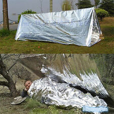 Silver Travel Emergency Survival Rescue Blanket Outdoor Hiking Camping Shelter