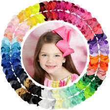 40pcs 6in Grosgrain Ribbon Big Hair Bows Clips for Girl Toddler Teens