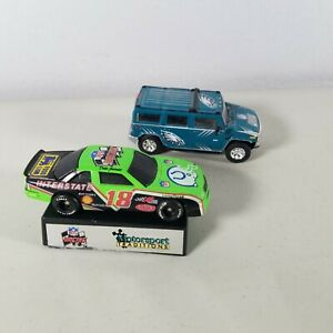 NFL Colts & Eagles Die Cast Cars With Car Stand 1991-2003