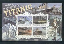 Burundi #1010 (2011 Titanic sheet) VFMNH CV $12.00