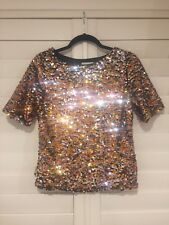 Glitz!!! Womens H&M sequin Top Eur XS size