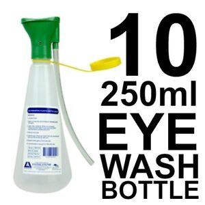 10 x Eye Wash Irrigation Plastic Bottle 250ml First Aid