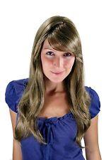 Perruque Femmes blond châtaigne brun clair ondulés long Raie Postiche 60cm