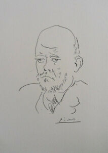 Pablo Picasso(After) : Portrait Of Vollard - Lithography Signed #1200ex