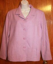 PENDLETON Ladies Sz 14 SUIT JACKET/BLAZER (pink virgin wool w/ lining) EUC