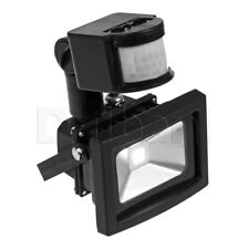 10W High-Grade Outdoor LED Flood Light Motion Sensor 6000K Daylight IP65 Black