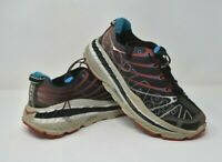 HOKA ONE ONE STINSON TRAIL HUBBLE Running Shoes Men's Size 10 Black/Red