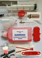 Universal Shimano Hydraulic Brake Bleed Kit, Includes Funnel + 100ml Mineral Oil