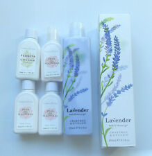 Crabtree & Evelyn Lavender Bath & Shower Gel plus 4 bottles of body lotion.-NEW-