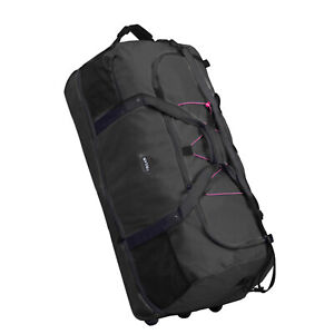 XXL FALTBARE Rollenreisetasche Reisetasche 1400g 140 L Dehnfalte schwarz