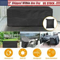 Waterproof Outdoor Patio Furniture Cover Rectangular Garden Rattan Table Cover
