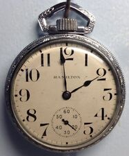 Hamilton Pocket Watch 950 23J 1906 Chrome Case (w112)