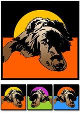 Gordon Setter Hund pop art Retro Bilder Tierportraits Bild Druck Poster Gemälde