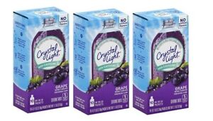 Crystal Light on the Go Grape with Caffeine Drink Mix Packets 3 Pack