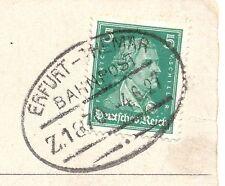 "Bahnpost, Bahnpoststempel ""Erfurt-Themar"", auf Ansichtskarte v. 1927"