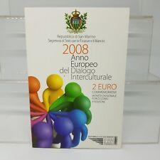 SAN MARINO 2 EUROS 2008 CONM. DIALOGO INTERCULTURAL