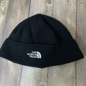 The North Face Youth One Size Black White Logo Winter Beanie Hat