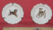ASHTRAYs Vintage Set of Two featuring BEAGLE DOG And TERRIER DOG (2) JAPAN