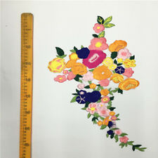 New Flower Motif Collar Sew on Patch Applique Badge Embroidered Bust Dress Np2