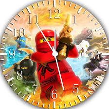 "Leog Ninja Ninjago wall Clock 10"" will be nice Gift and Room wall Decor W119"