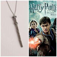 collana ciondolo bacchetta magica harry potter hogwarts doni della morte deathly