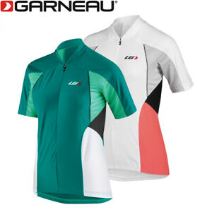 Louis Garneau Beeze Vent Women's Cycling Jersey - Dark Green, White/Coral