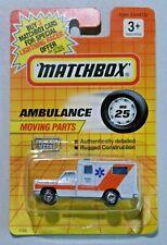 Matchbox Ambulance No. 25 Vintage 1991 Diecast Car New on Card