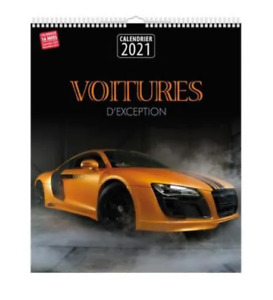 CALENDRIER MURAL 2021 - VOITURES D'EXCEPTION / GRAND FORMAT, NEUF