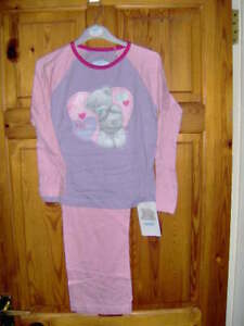 GIRLS TATTY TEDDY PYJAMAS CHOICE OF TWO DESIGNS  - PINK or WHITE AGES 3/4 - 5/6
