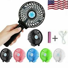 Mini Portable Hand-held Desk Fan Cooling Cooler USB Rechargeable +18650 Battery