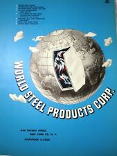 World Steel Products Corp Catalog ASBESTOS Fire Kalamein Doors 1954 Military Loc