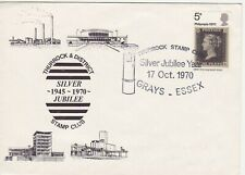 GB Stamps Souvenir Postmark for Thurrock Stamp Club, Post Box, chimney etc 1970