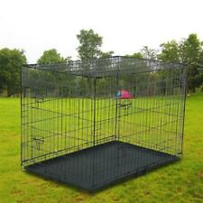 "42"" Pet Kennel Cat Dog Folding Steel Crate Animal Playpen Wire Metal NFP"