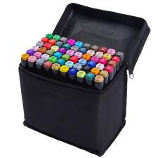 Set 80 Couleurs Alcool Marqueurs Feutre Crayon Permanents Stylos Peinture Cadeau