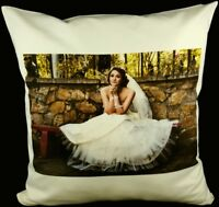 Personalised CREAM Cushion Cover Printed Photo Gift Custom Print Family Friends