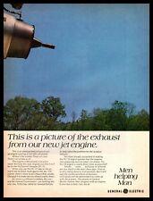 1970 McDonnell Douglas DC-10 Jet Engine Exhaust Test General Electric Print Ad