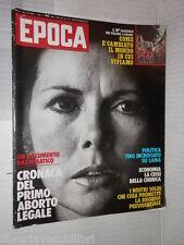 EPOCA Norberto Bobbio Luciano Lama Primo Aborto Stephen Spender Liv Ullmann di