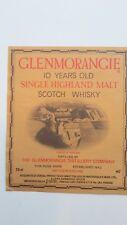 ETICHETTA WHISKY GLENMORANGIE 10 YEARS OLD