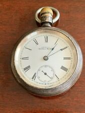 Antique American Waltham Watch co pocket watch. House scene on case