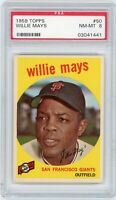 1959 Topps Willie Mays #50 PSA 8 Near Mint To MINT San Francisco Giants HOF Nice