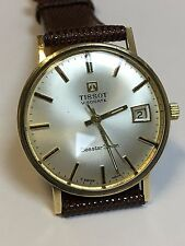 Stunning Tissot Visodate Solid 9ct Gold Vintage Manual Wind Watch Seastar Seven