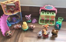 Littlest Pet Shop LPS PIG CHEF, DOGS & FURNITURE BUNDLE WITH ACCESSORIES
