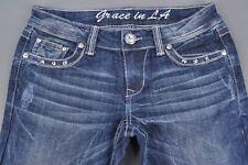 New Grace in LA Stretch Denim Western Cowgirl bootcut Size 27 Indigo #WG-864