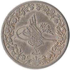 AH1293/10 (1884) Ottoman Egypt 5/10 Qirsh Coin KM#291
