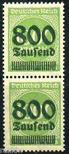 Dt. Reich 800Tsd/1000M. Aufdruck 1923** fette Inschrift geprüft (S8120)