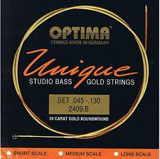 Optima/Maxima 'Unique Series' Studio 24 K Gold Bass 5 String 45-130 - BG2409.B