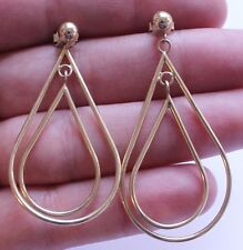 Vintage 14K Solid Yellow Gold Dangle or Drop Earrings 3 Grams 585