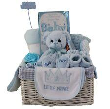 NUOVI Eleganti grandi CESTO CESTINO BAMBINO BOY BABY SHOWER Baby Regalo Pannolino Torta Blu