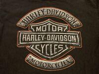 2012 Harley-Davidson Motorcycles Logo Black T-Shirt Size Small